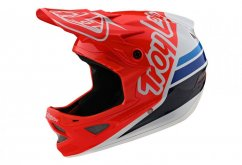 Troy Lee Designs D3 Fiberlite Silhoutte Red/White
