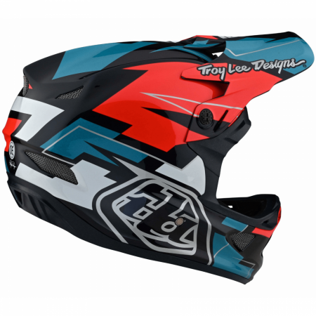 Troy Lee Designs D3 Fiberlite Vertigo Blue/Red