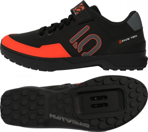 Five Ten Kestrel Black Solar Red - Velikost EUR: 39 1/3